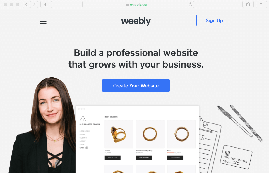 Built a professional website with Weebly